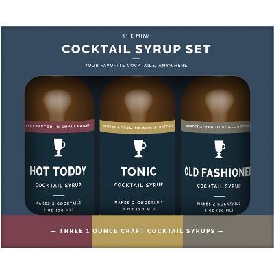 1oz 3pk Mini Craft Cocktail Syrup Set Assembly Brands Target