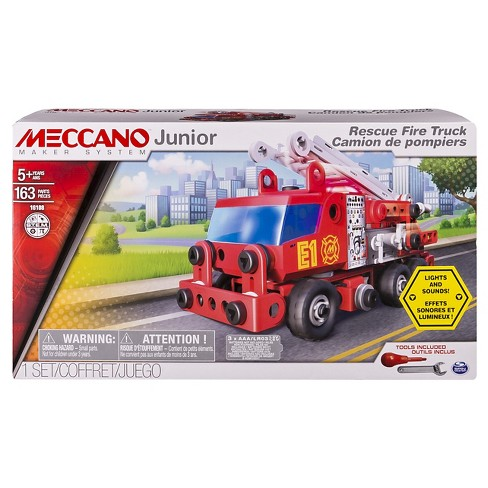 Meccano Erector Junior - Rescue Fire Truck with Lights and Sounds Model Building Kit - image 1 of 4