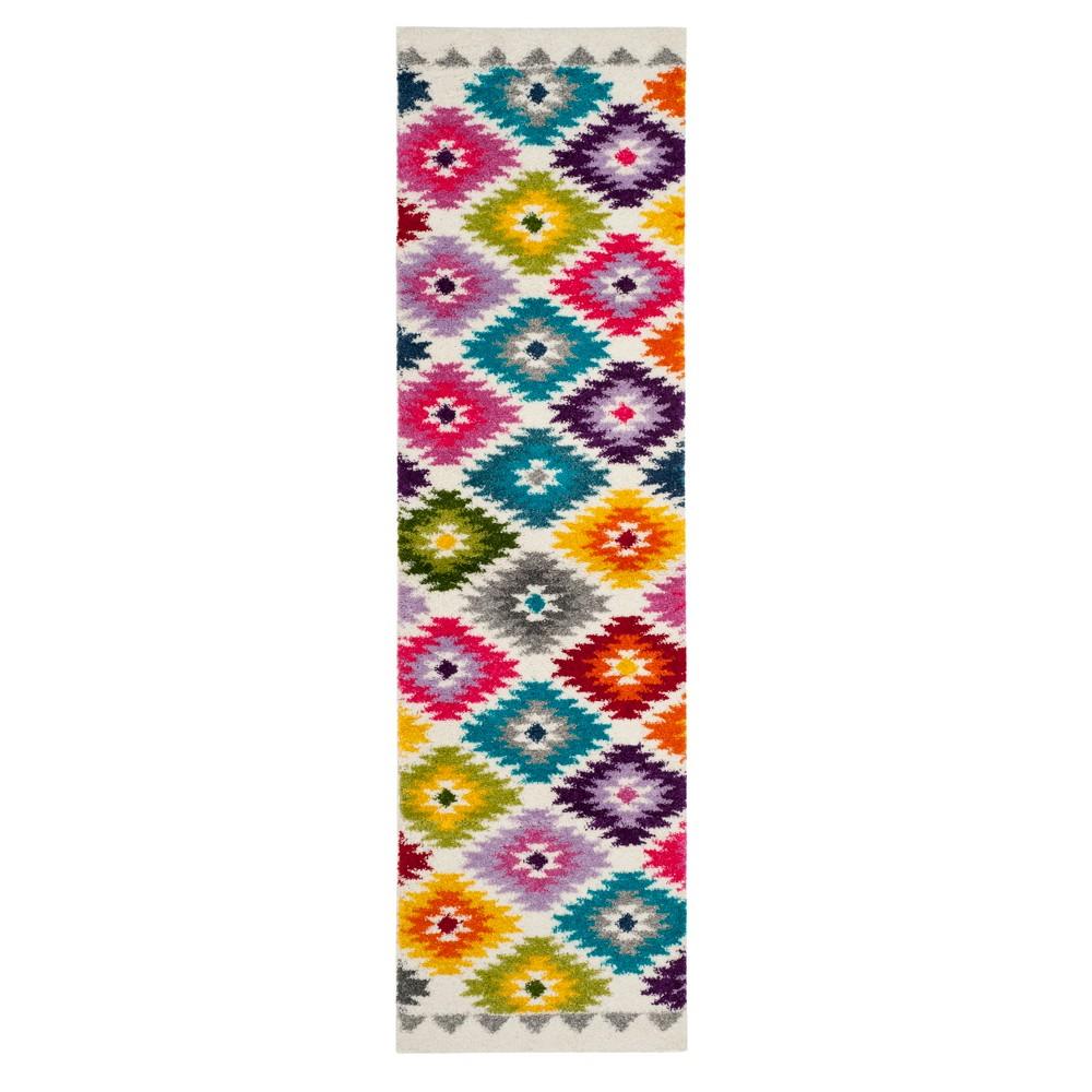 Cream Tribal Design Loomed Runner 2'3X8' - Safavieh, Beige