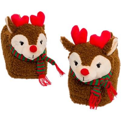 FUNZIEZ! - Women's Reindeer Holiday Slippers