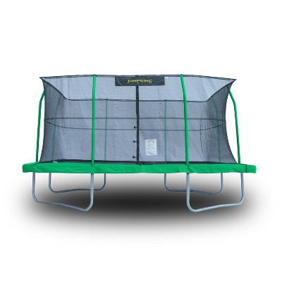 JumpKing JKRC1014C3 10 x 14 Foot Rectangular Trampoline with Safety Net Siding
