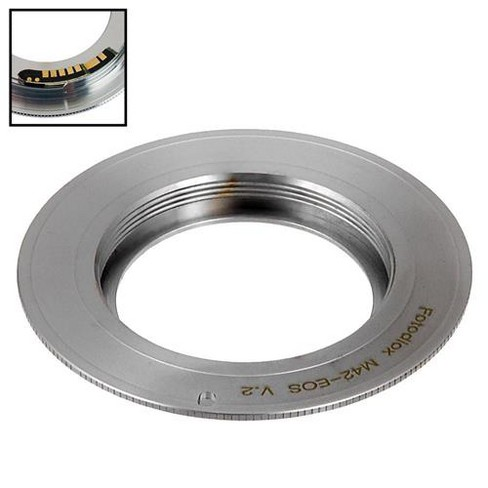 Fotodiox Pro Lens Mount Adapter for M42 Type 2 Screw SLR Lens to Canon EF, EF-S - image 1 of 3