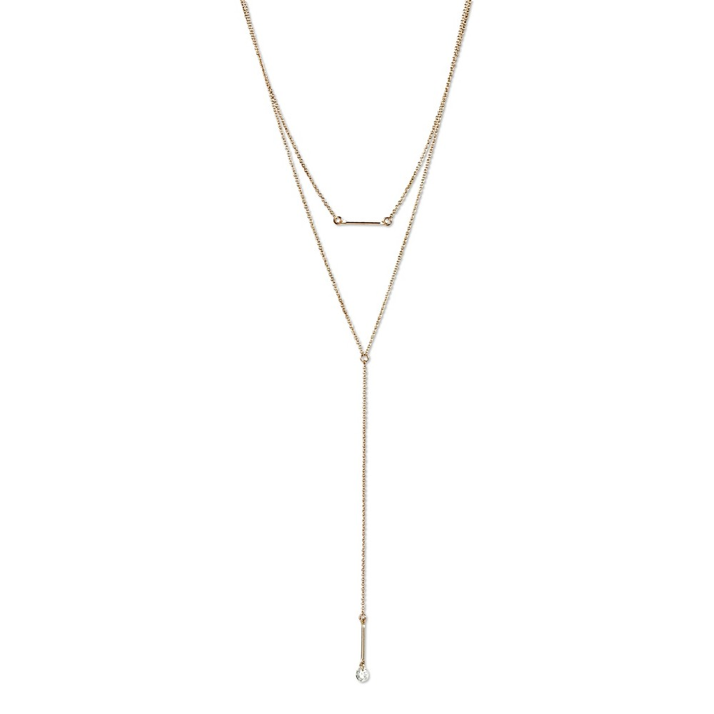Two layer Choker Necklace - 18 - Rose Gold, Women's