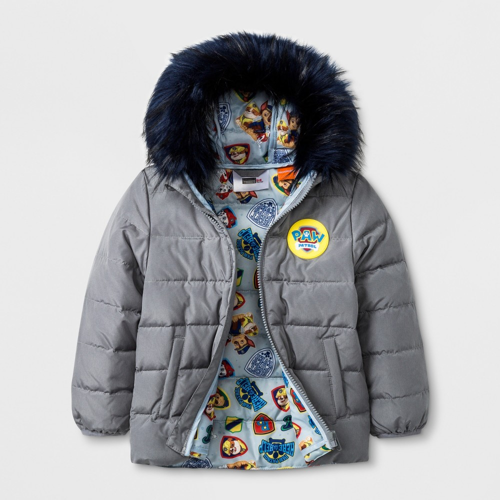 Toddler Boys' Paw Patrol Down Parka - Gray 3T