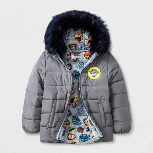633a946a2 Toddler Boys  PAW Patrol Down Parka - Gray 5T   Target