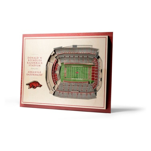 NCAA Arkansas Razorbacks 5-Layer Stadiumviews 3D Wall Art - image 1 of 4