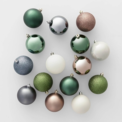 50ct Veranda Christmas 70mm Ornament Set Green Mushroom Slate Blue & White - Wondershop™ - image 1 of 1