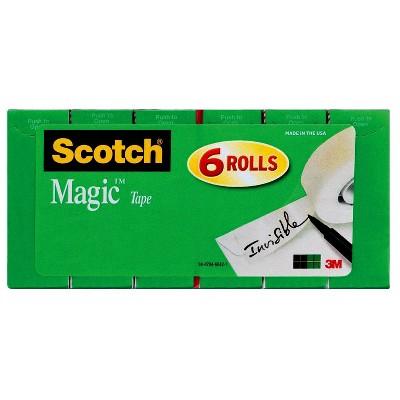 """Scotch 6pk Magic Tape 3/4""""x800"""""""