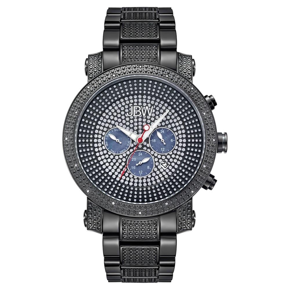 Men's Jbw JB-8102-G Victor Japanese Movement Stainless Steel Real Diamond Watch - Black