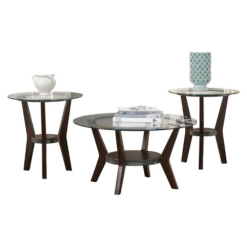 Fantell Occasional Table Set Dark Brown (Set of 3) - Signature Design by Ashley - image 1 of 3