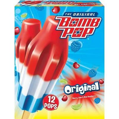 Bomb Pop Original (Cherry, Lime, Blue Raspberry) Bars - 21 fl oz /12ct