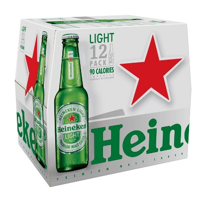 Heineken Light  Lager Beer - 12pk/12 fl oz Bottles