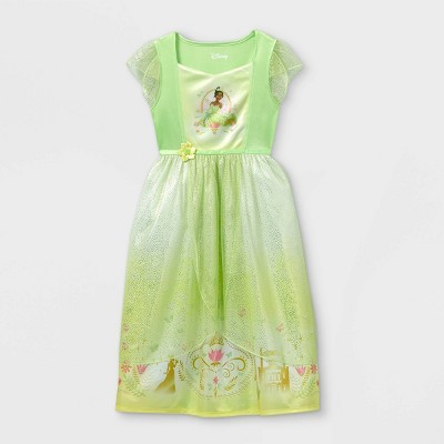 Girls' Disney Princess Tiana's Palace Nightgown - Green