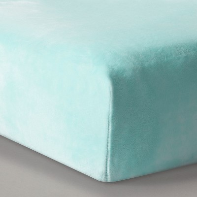 Plush Fitted Crib Sheet Solid - Cloud Island™ - Mint