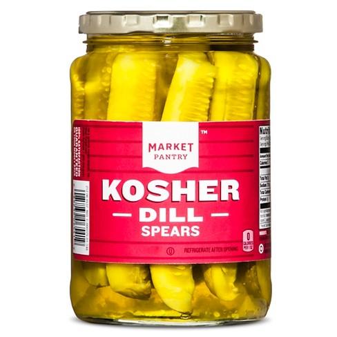 Kosher Dill Pickle Spears - 24 fl oz - Market Pantry™ - image 1 of 2