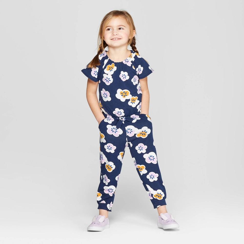 Toddler Girls' Self Tie BodySuit - Cat & Jack Navy 18M, Blue
