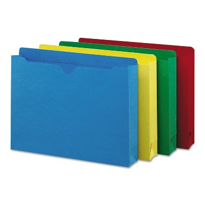 Smead Colored File Jackets w/Reinforced 2-Ply Tab Letter Assorted Colors 50/Box 75673