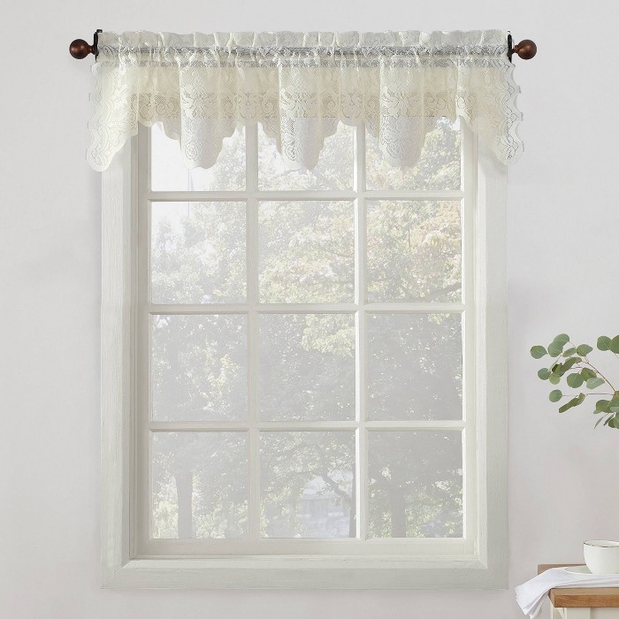 Alison Sheer Lace Kitchen Curtain Valance, Tiers, and Swags - No. 918 - image 1 of 2