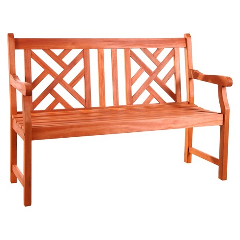 Vifah Atlantic 2-Seater Outdoor Bench - Brown - image 1 of 1