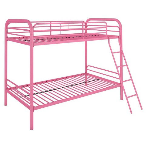 Evan Twin Over Twin Metal Bunk Bed Pink Room Joy Target