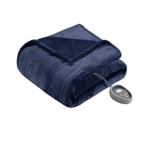 Microlight Berber Electric Blanket (King) Indigo - Beautyrest - image 1 of 4