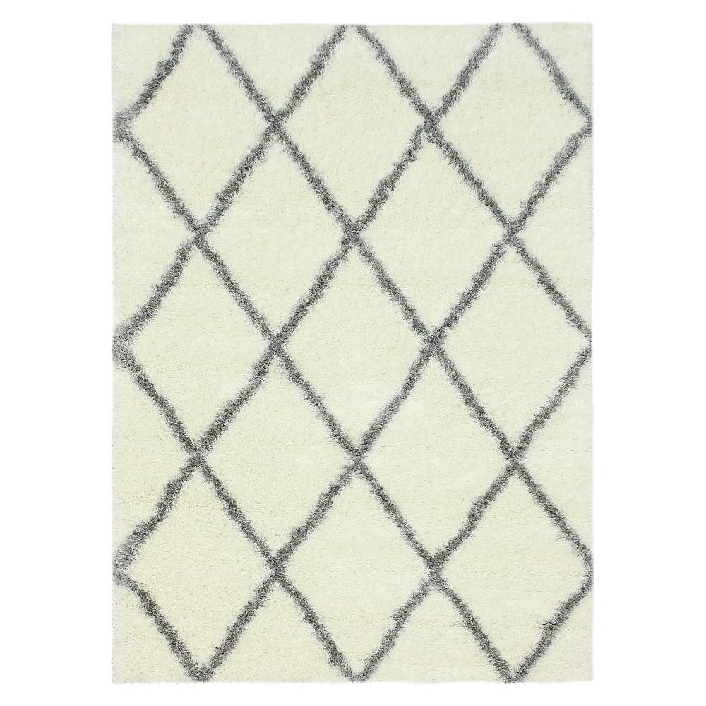 nuLOOM Diamond Shag Area Rug - Gray (5' 3