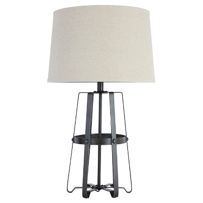 Samiya Metal Table Lamp Antique Black - Signature Design by Ashley