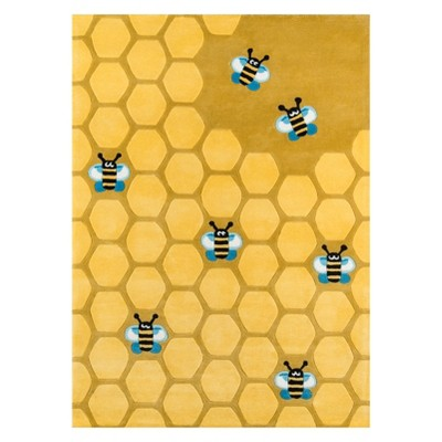 2'X3' Bee Tufted Accent Rug Honeycomb Gold - Momeni
