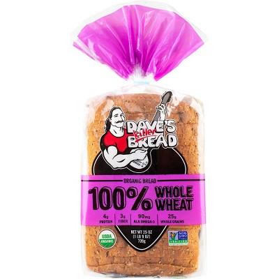 Dave's Killer Bread Organic 100% Whole Wheat Bread - 25oz