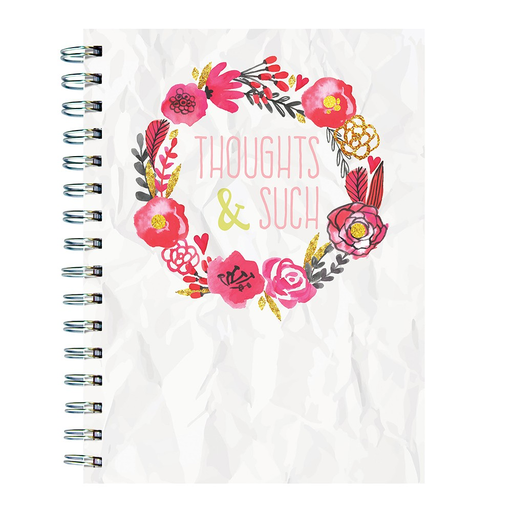 """Lined Journal Purple """"Thoughts & Such"""" - TF Publishing, White"""