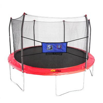 Skywalker Trampolines 15' Round Jump-N-Toss Trampoline with Enclosure - Red