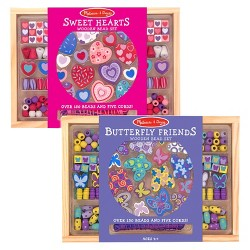 55cc0e385de1 $17.99. Melissa & Doug® Sweet Hearts and Butterfly Friends Bead Set ...