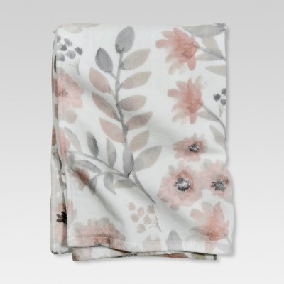 Flat Weave Bath Towels Coral Blooms - Threshold™