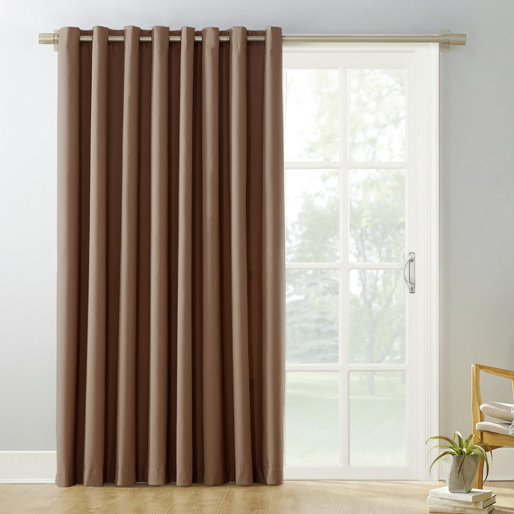 "Image of ""100""""x84"""" Kenneth Easton Extra Wide Blackout Sliding Patio Door Curtain Panel Barley - Sun Zero"""