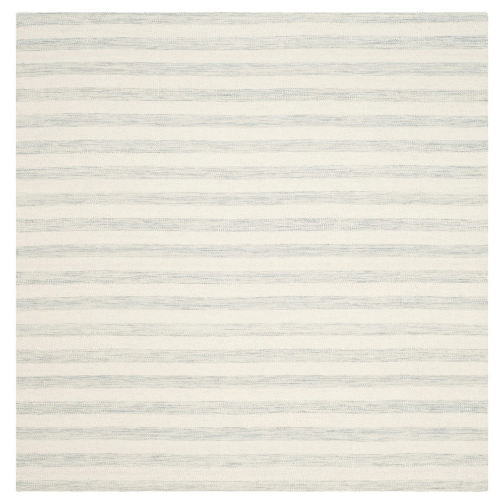 Roland Dhurrie Area Rug - Light Blue / Ivory (6' X 6') - Safavieh, Light Blue/Ivory