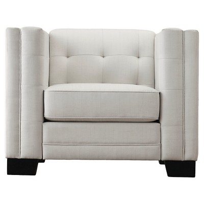Flatiron Tufted Arm Chair   Off White   Inspire Q : Target