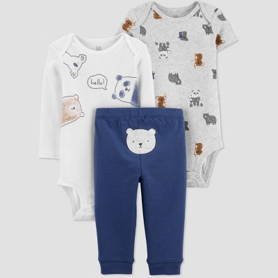 Baby Boys' Panda Bear Top & Bottom Set - Just One You® made by carter's Blue 3M