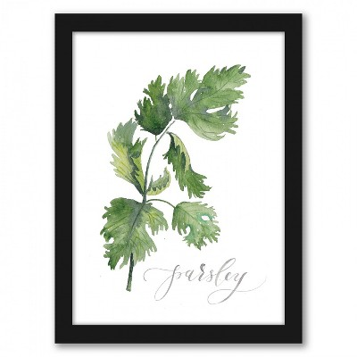 Americanflat Parsley by Cami Monet Black Frame Wall Art