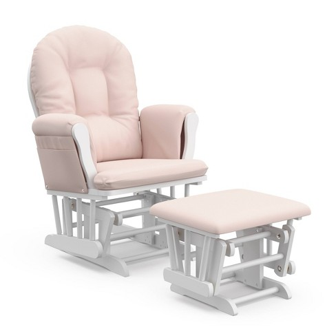 Storkcraft Hoop White Glider and Ottoman - image 1 of 4