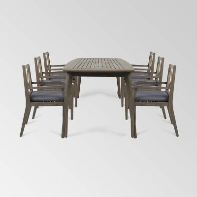 Llando 7pc Patio Dining Set - Christopher Knight Home