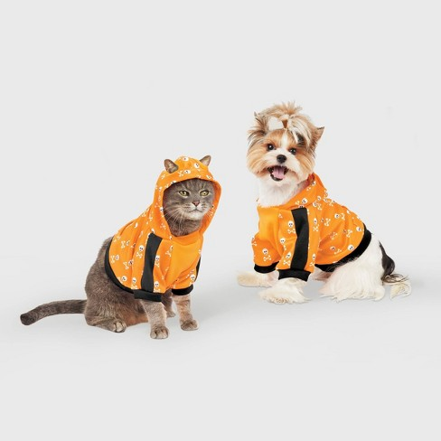 Skull Halloween Dog and Cat Cropped Hoodie - Hyde & EEK! Boutique™ - image 1 of 1