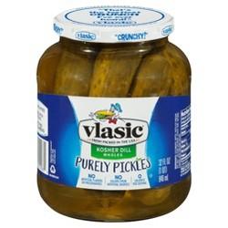 Vlasic® Purely Pickles Kosher Dill Large Wholes - 32 fl oz