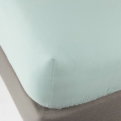 Queen 300 Thread Count Ultra Soft Fitted Sheet Set Aqua - Threshold™