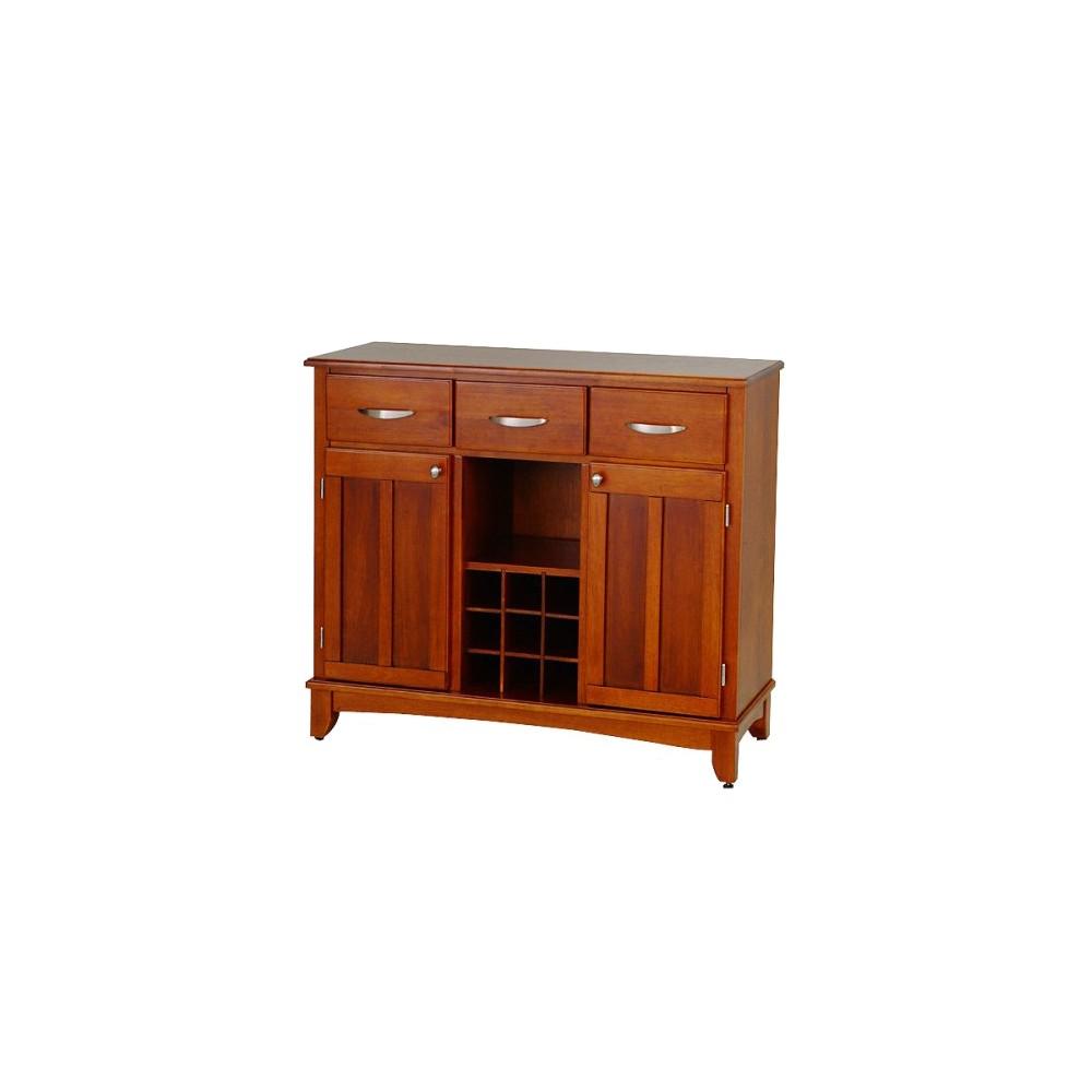 Hutch Style Buffet Wood Oak Home Styles