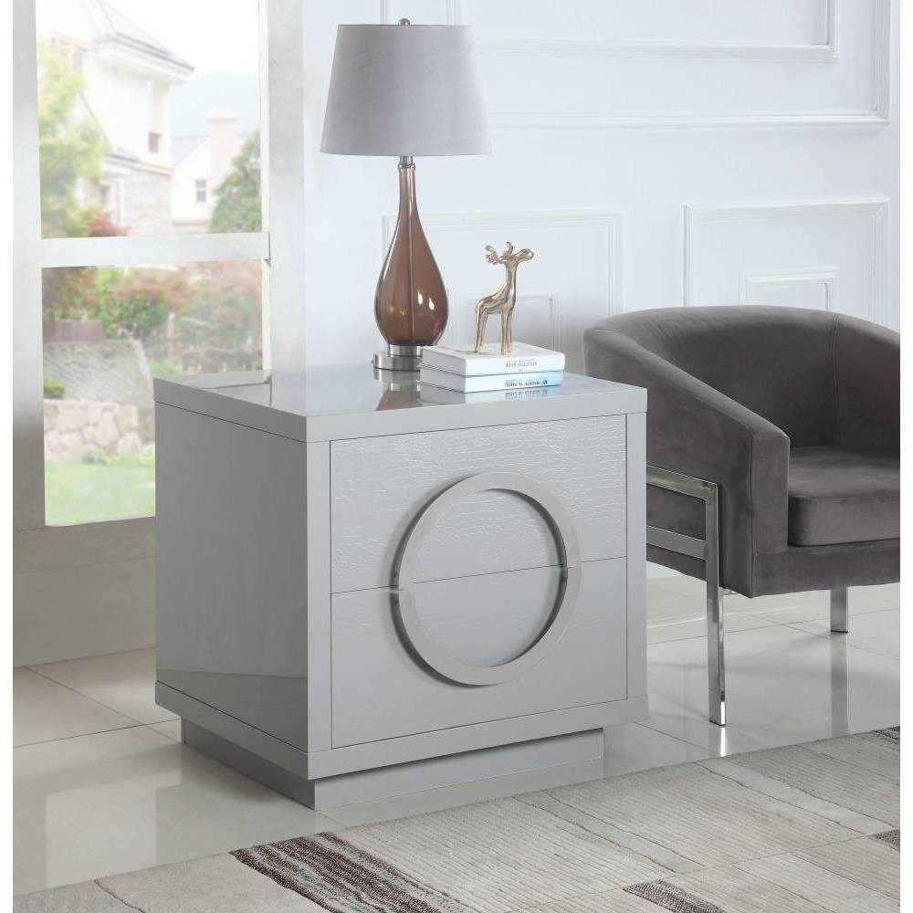 Norcia Side Table Gray - Chic Home Design was $639.99 now $383.99 (40.0% off)