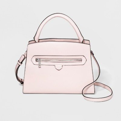 Top Handle Zipper Satchel Handbag - A New Day™ Pink