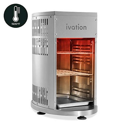 Ivation Propane Infrared Steakhouse Grill Broiler Heats to 1500°F