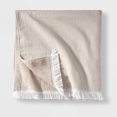 Flat Weave Bath Towel Sand - Casaluna™