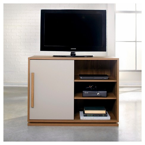 Soft Modern TV Stand Fine Walnut 39