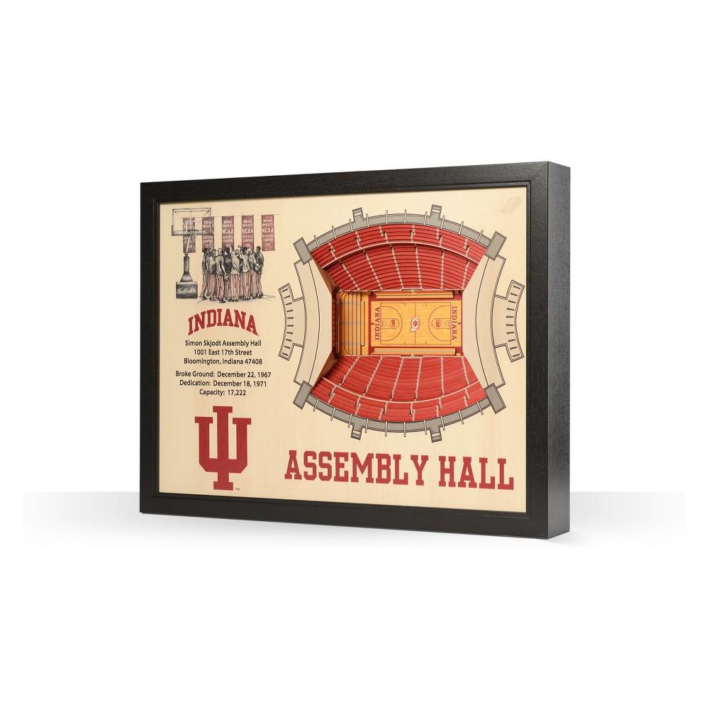 NCAA Indiana Hoosiers 25 Layer Stadiumviews 3D Wall Art